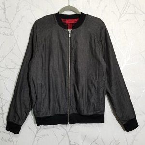 Hugo Boss Black Chambray Full Zip Bomber Jacket